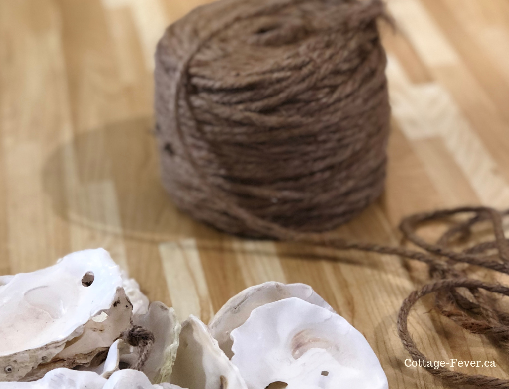 How to craft an oyster shell garland