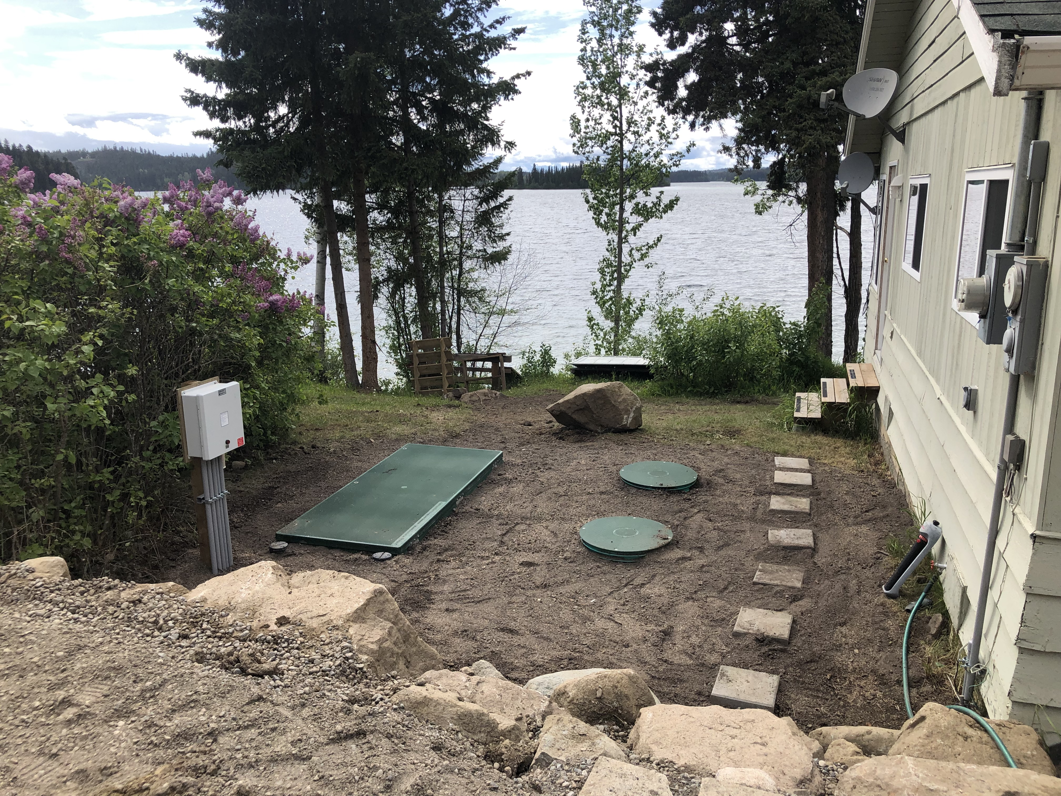 Installing a new septic system at the cottage